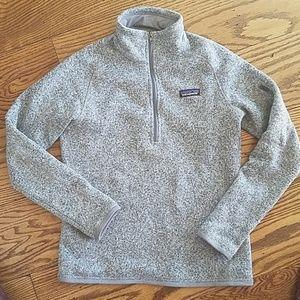 Patagonia Women's better sweater birch white